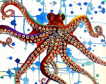 Octopus Splash 20x20