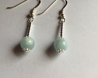 Amazing Aquamarine and Sterling Silver Drop Earrings