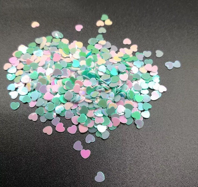 Wedding Heart Party Confetti sprinkles Iridescent Hearts