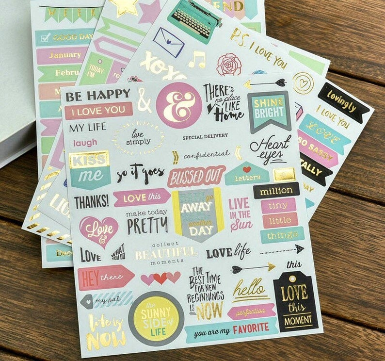 136 Pieces Die Cuts Planner Paper Crafts DIY Collage Card Making FREE SHIPPING