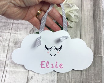 Personalised Cloud Sign for Baby Girl