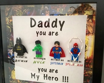 Father's Day superhero/star wars picture frame