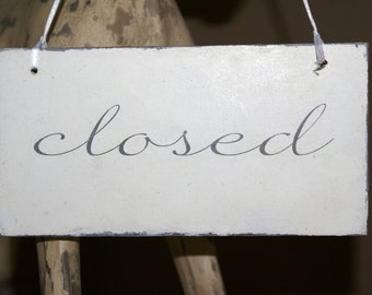 Turning sign open/closed shabby chic
