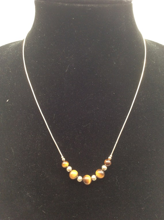 TI SENTO Massive silver necklace 925 crystal pearl brown cat eye jewel