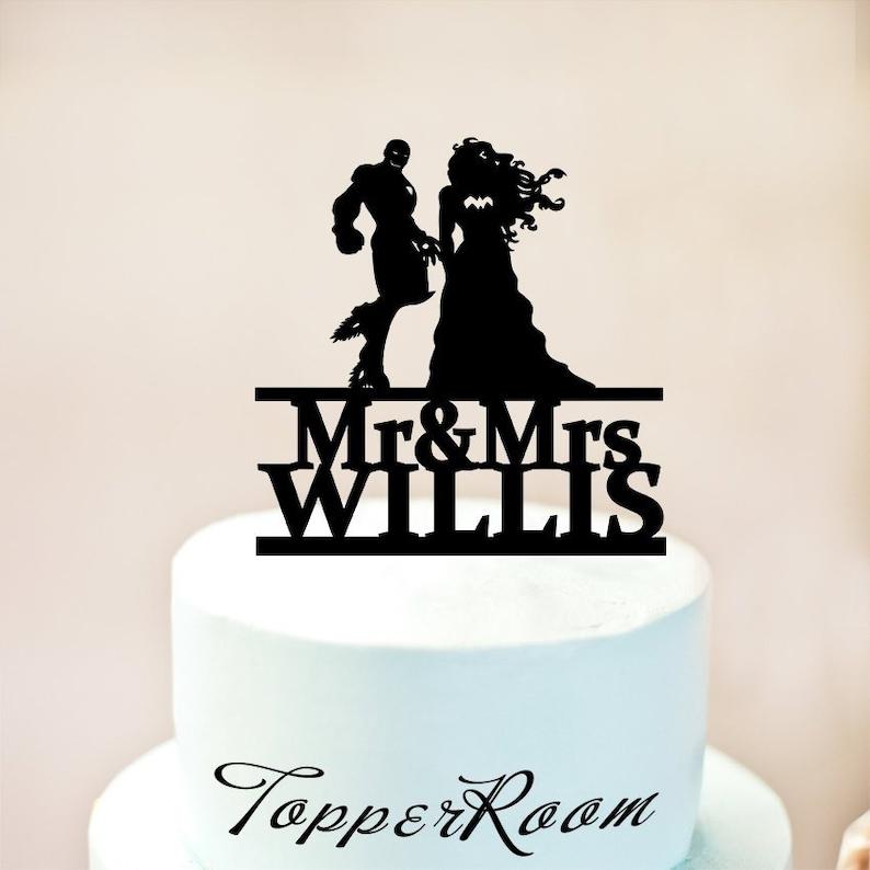 Ironman Und Wunder Frau Hochzeit Kuchen Topper Ironman Cake Etsy