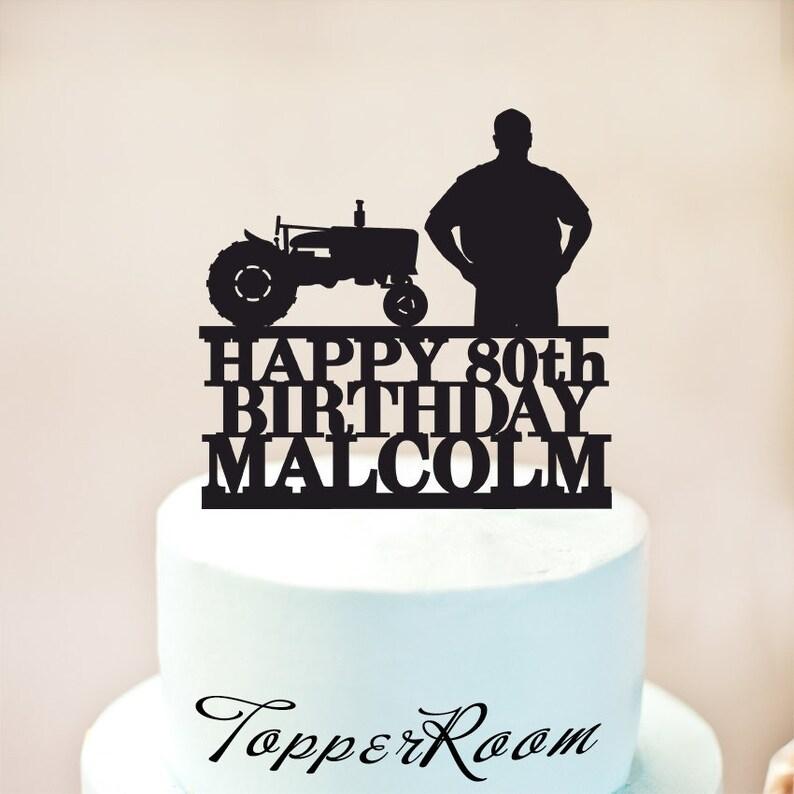 Tractor Cake TopperFarmer TopperTractor Birthday
