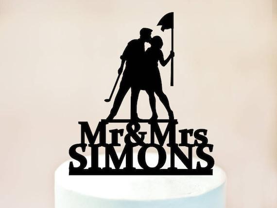 Golf Wedding Cake TopperGolf Cake TopperCake Topper | Etsy