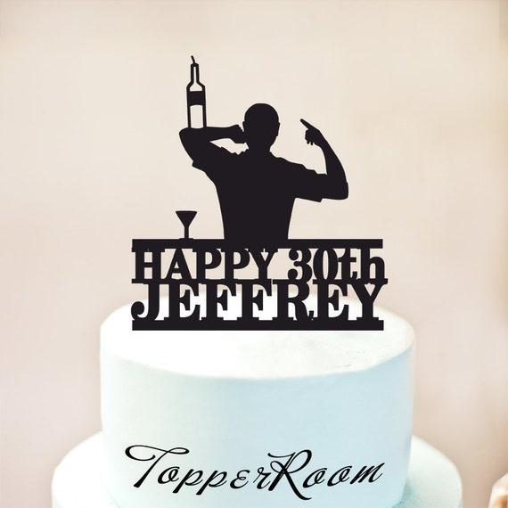 Bartender Cake Topperbirthday Cake Topper Custom Cake Etsy