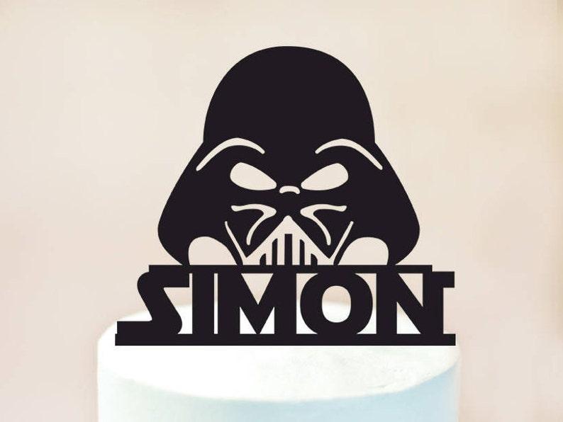 Astonishing Darth Vader Cake Topperdarth Vader Birthday Cake Topperdarth Etsy Birthday Cards Printable Trancafe Filternl