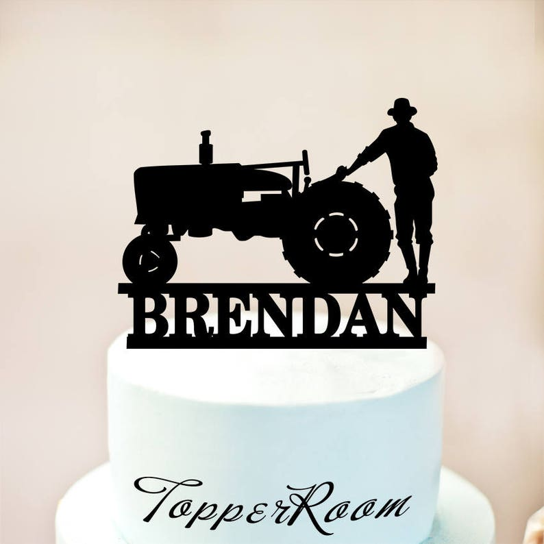Tractor Cake TopperFarmer TopperTractor Birthday