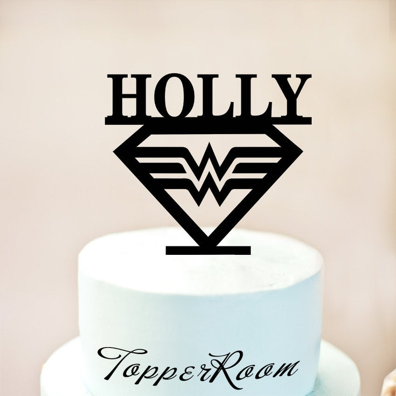 Custom Wonder Woman Cake Topper Birthday