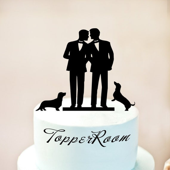 Resin Wedding Gay Cake Topper Decoration Top Gay Sweet Gifts