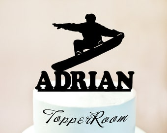 Snowboarding Cake Topper,freestyle Cake Topper,Snowboarding silhouettes,Snowboarding cake decoration (1028)