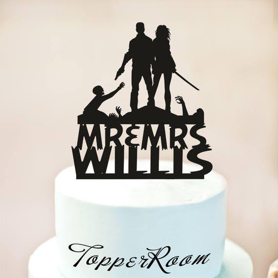 Zombieland Kuchen Deckel Hochzeitstorte Etsy