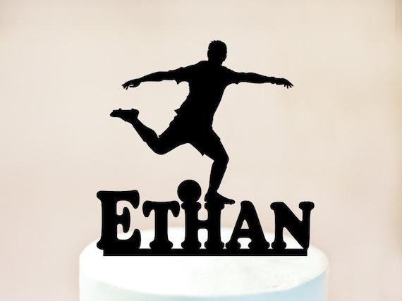 Fussballer Cake Topper Fussball Kuchen Deckel Fussball Party Etsy