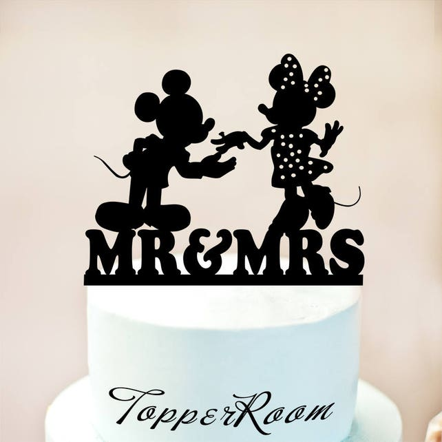Disney Wedding Cake Topper Mickey Mouse Cake Topper Mickey And