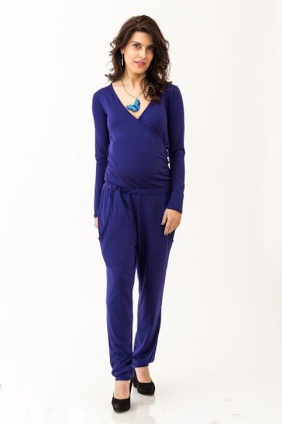 Maternity Playsuit Nursing Jumpsuit Oversize Romper Plus Size Etsy