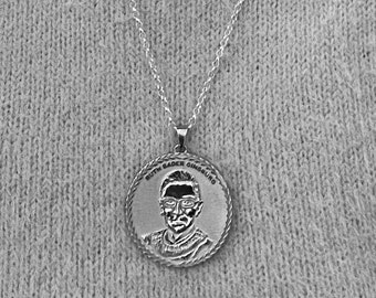 Ruth Bader Ginsburg Sterling Silver Necklace
