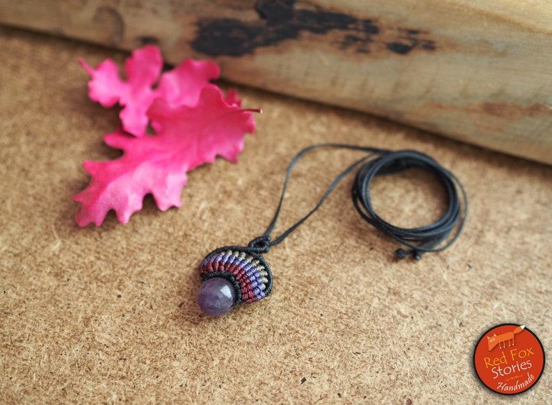 macrame stone Small delicate macrame pendant with Aventurine macrame necklace macrame jewelry bohemian necklace macrame pendant