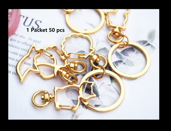 Seashell keychain | Gold key ring | Gold key chain