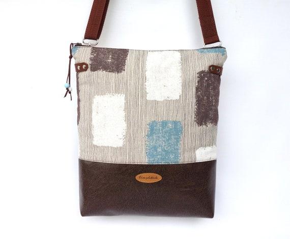 2684619160 Shoulder bag hazel dark brown beige artificial leather