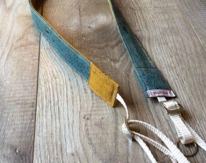 Camera Strap/camerastrap for turning------greenish/mustard----3cmbreit