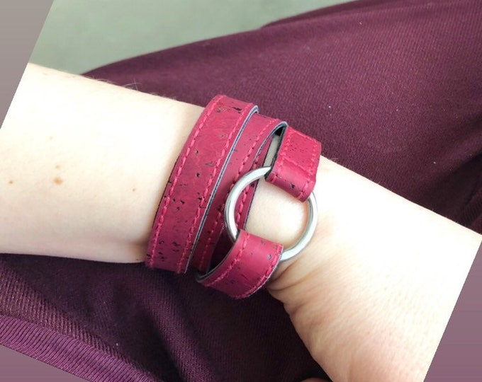 Wrap Bracelet Green or Burgundy, vegan, 52 cm long or Desired measure, about 1.2 cm wide 29.99 euros