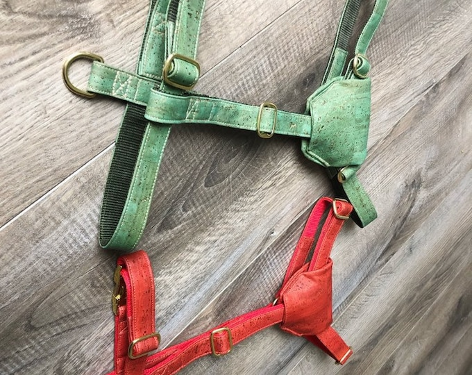 1 dog harness on measure ROTEORANGE or FRESHSPEARMINT per 100,00 EURO