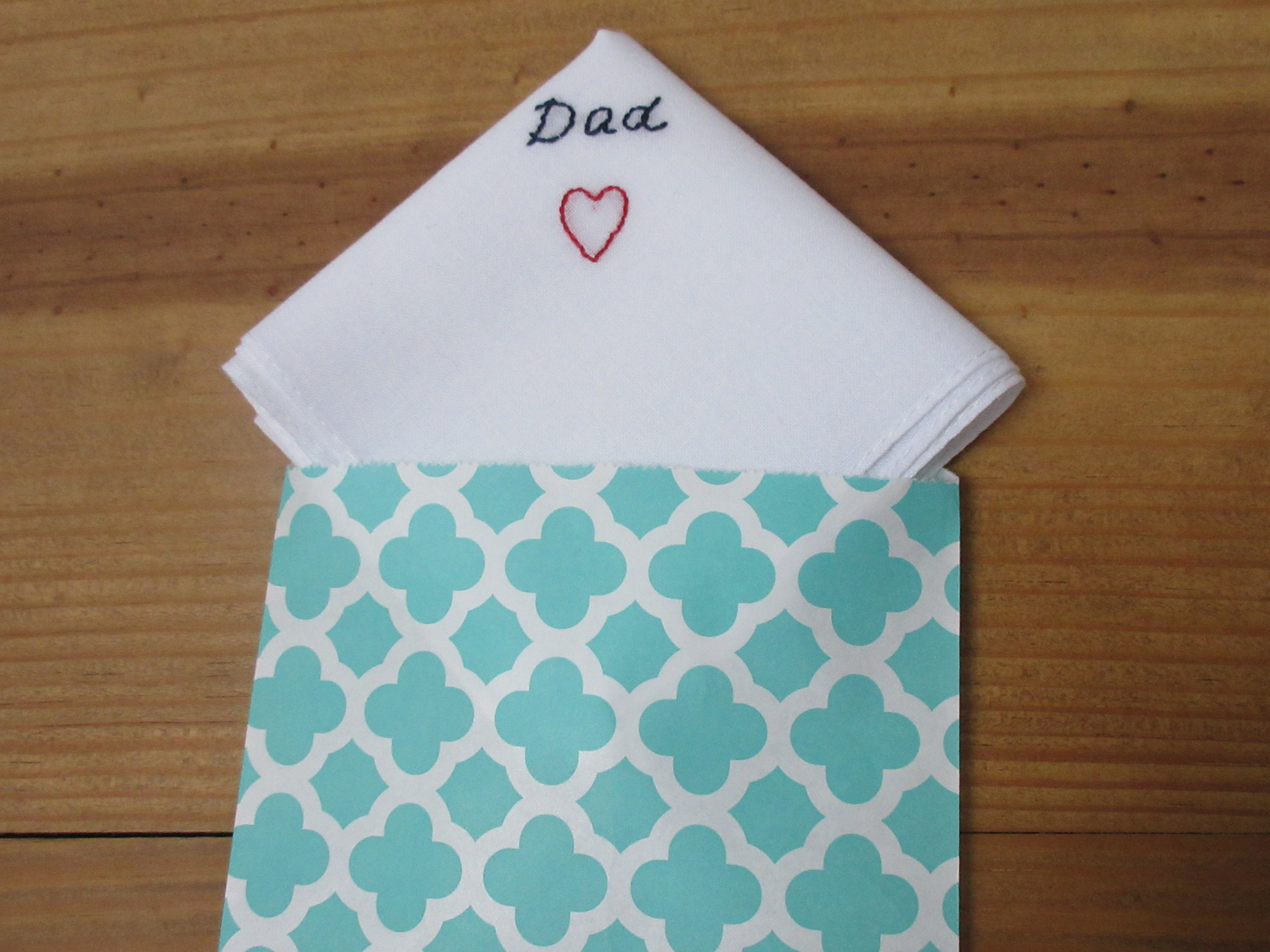 Men Simple Handkerchief Hand Embroidered Father Of The Bride Etsy