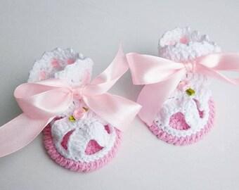 Cotone biologico bambino Sandali, sandali scarpe neonato bianco, battesimo scarpe, Sandali rosa baby