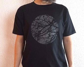 Minimalistic Tree Organic Cotton Graphic Tee, Screen Printed t-shirt
