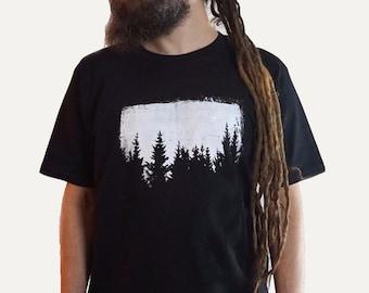 Tree Shirt, Organic Cotton Forest Shirt, Screen Printed Graphic Tee
