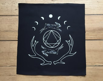 Back Patches for Jacket, Pagan, Occult Witchy Screen Printed Sew on Patch