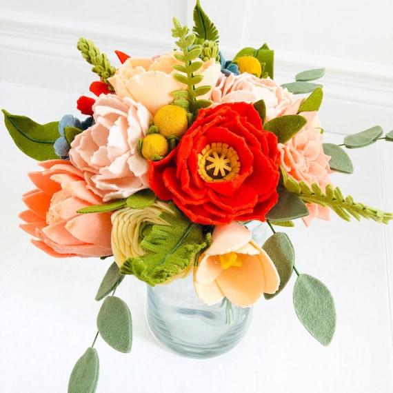 Felt Flower Wedding Bouquets Build Your Own Bouquet Wedding Bouquet Mother S Day Flowers Wedding Rehearsal Bouquet