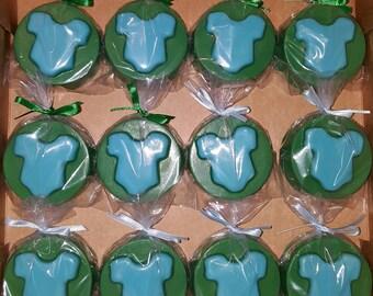 Baby Onesie/ Baby shower Chocolate Covered Oreo - set of 12
