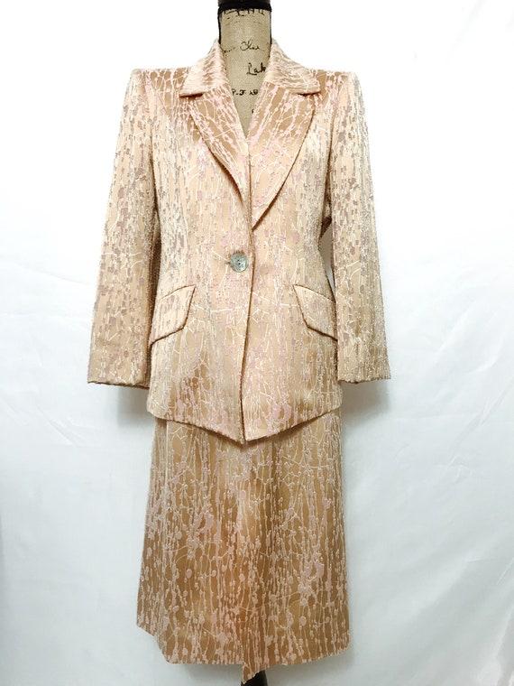 Vintage Christian Lacroix Satin Skirt Suit