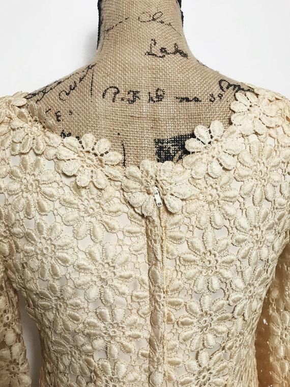 Vintage Suzy Perette Crochet, Lace Dress, 1960s - image 5