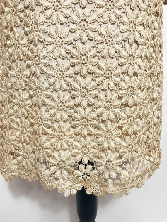 Vintage Suzy Perette Crochet, Lace Dress, 1960s - image 3