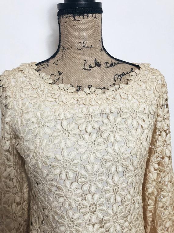 Vintage Suzy Perette Crochet, Lace Dress, 1960s - image 2