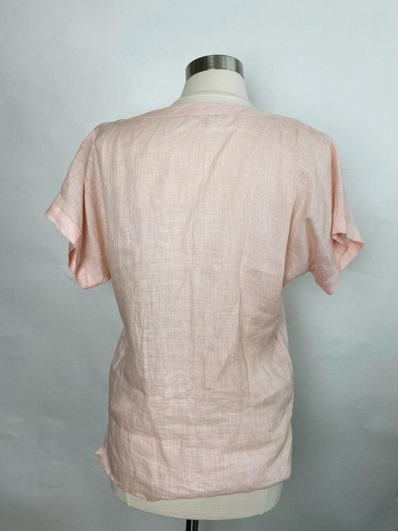 Vintage Gucci Linen Top, 1970s - image 4