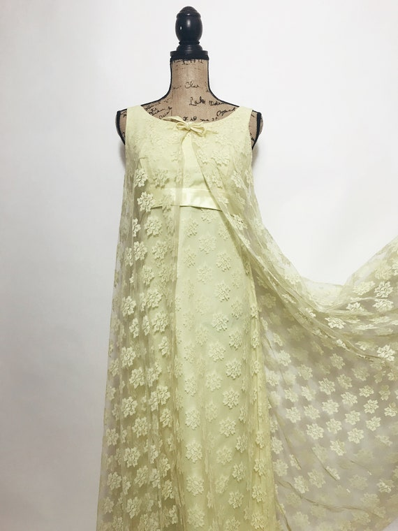 Vintage Lace Cape Dress, 1960s