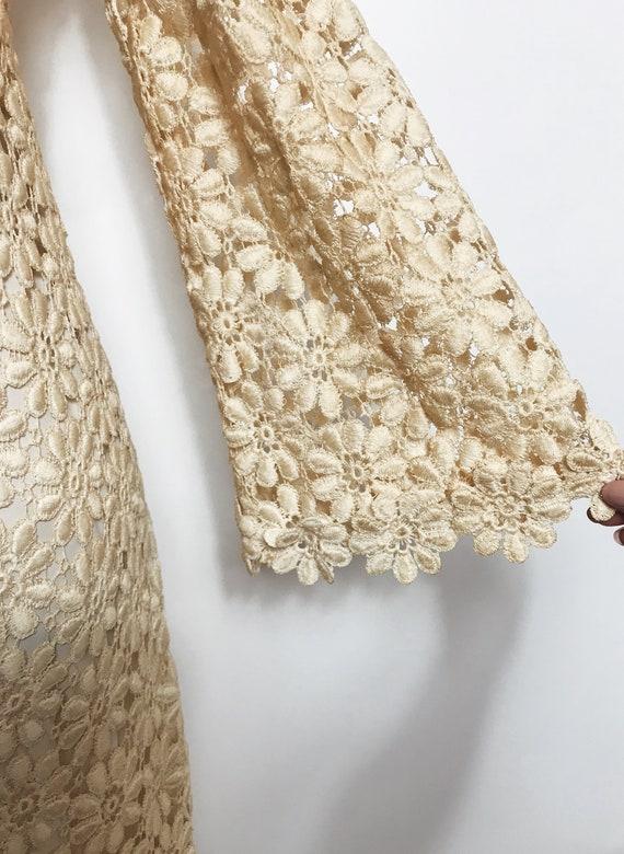 Vintage Suzy Perette Crochet, Lace Dress, 1960s - image 4