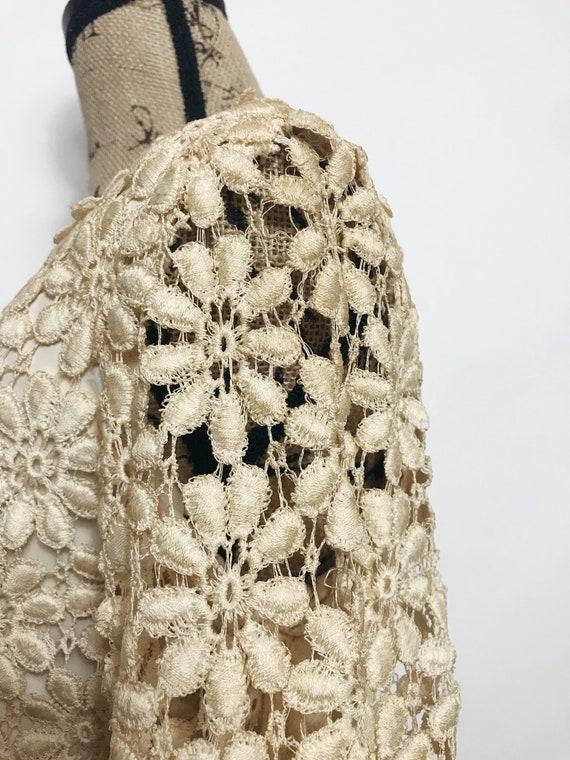 Vintage Suzy Perette Crochet, Lace Dress, 1960s - image 9