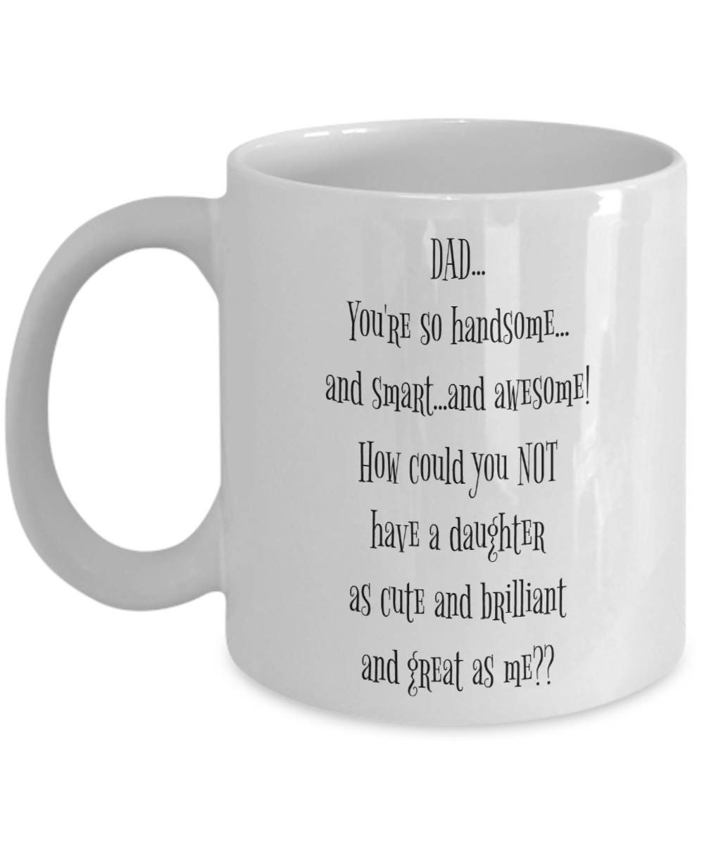 Christmas Day Gifts From Daughter Fathers Day Mug To Daddy | Etsy