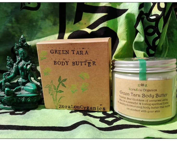 Green Tara luxury body butter (raw organic Cacao Butter, fresh Organic Grapefruit, Organic Sweet Orange & sweet Organic Roman Chamomile)