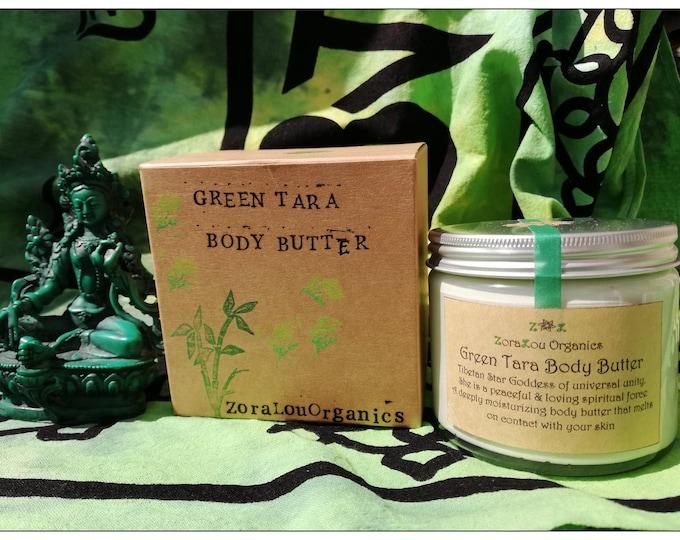 Green Tara luxury body butter (raw organic Cacao Butter, fresh Organic Grapefruit, Organic Sweet Orange & sweet Organic Roman Chamomile)