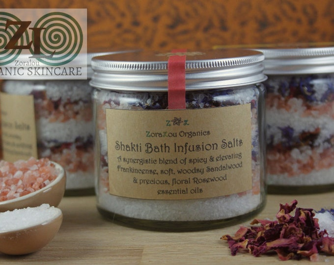 Shakti Bath Infusion Salts (with Himalayan Pink Salt, Dead Sea Salt & Organic essential oils)
