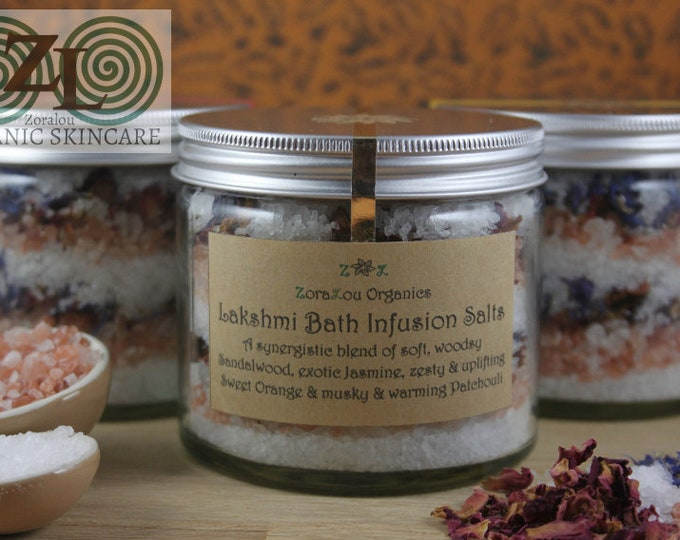 Lakshmi Bath Infusion Salts (with Himalayan Pink Salt, Dead Sea Salt & organic essential oils)