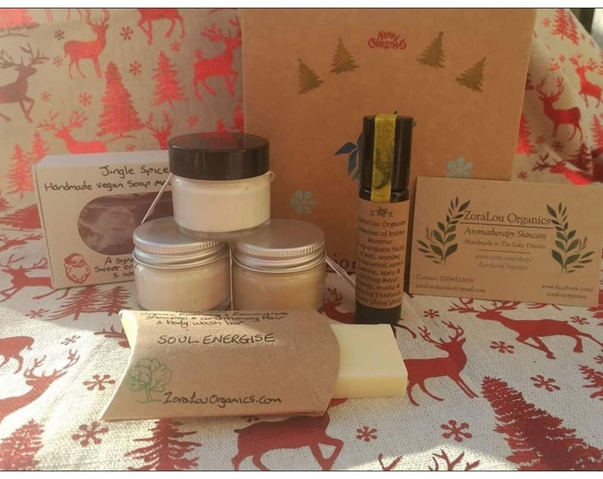 Christmas Gift Box -  contains 6 organic skincare items