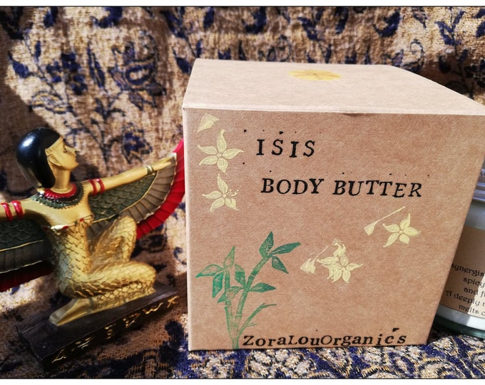 Isis luxury body butter (with Raw organic Cacao Butter, floral Organic Lavendar French, fruity Organic Helichrysum & spicy Frankincense)